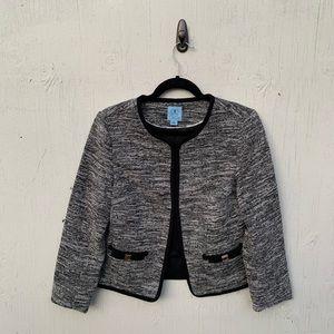 CeCe Gray Heathered Blazer Jacket